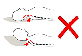 incorrect pillow size - back sleepers