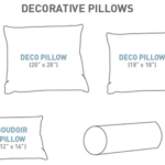 common decorative pillow sizes